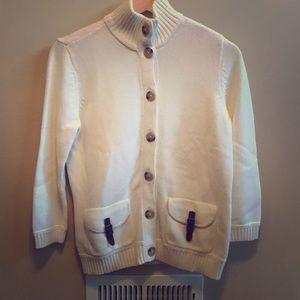 Ralph Lauren Cream 3/4 Sleeve Sweater - S